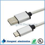 USB cobrando 2.0 dos dados 3.1 um tipo masculino cabo de C