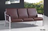 Mobília de couro moderna confortável barata azul da área de recepção do sofá do escritório da venda quente