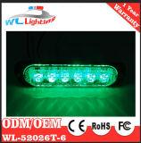 Sinal de segurança 6LED da lanterna elétrica que adverte o verde de Lighthead