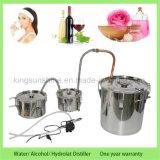 Kingsunshine 10L/3gal Edelstahl-Dampfkessel-kupfernes Gefäßmoonshine-noch doppelte Destillation-Wasser-Destillierapparat