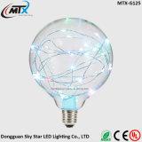 Da luz colorida do globo da corda do fio de cobre bulbo decorativo da patente do diodo emissor de luz