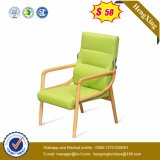 PU Office Furniture Green Color Senhora cadeira de madeira cadeira Ns-CF078