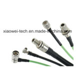 """asamblea de cable coaxial de puente del 1/2 """" RF con el conector del RF"""