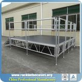 Étape en aluminium de contre-plaqué de hauteur ajustable