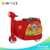Nuevo modelo para niños de Shell duro para el equipaje de los niños maleta de viaje con ruedas de caucho
