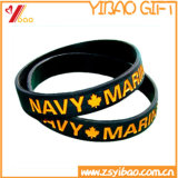 Vente en gros Debossed Design Silicone Wristband for Promotion Gifts (YB-AB-023)