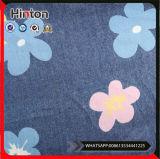 よい手の感じの花模様の印刷された綿のデニムファブリック