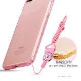 더하기 iPhone 7을%s 다이아몬드 프레임 얼음 TPU 상자