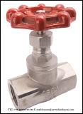 Válvula global de aço inoxidável com extremidade roscada