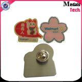 Fujiyama Logo Vente en gros Custom Metal Printing Logo Flower Lapel Pin