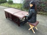 Vectores de madera inmóviles del masaje con la cabina
