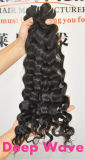 De produits capillaires de cheveu d'armure de paquets paquets brésiliens de travail d'armure de cheveux humains du cheveu 105g/Piece de Vierge d'onde profondément premiers
