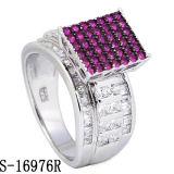 De echte Zilveren Geplateerde Juwelen van de Manier van de Ring met Toon Twee