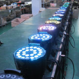 IGUALDAD 24X12 del disco RGBW 4in1 LED del equipo DMX de la etapa