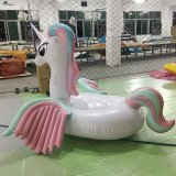 Inflável Rainbow Colorful Pegasus Unicorn Pool Float Toy