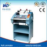 Fabricante profesional Hot Roll máquina laminadora con Gabinete con el cortador de FM-6510