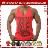 Custom Fitness Bodybuilding 100% Cotton Man Sport Gym Clothing Vest (ELTMBJ-588)