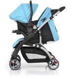 Europäischer Standard-Baby-Kinderwagen mit Auto-Sitz