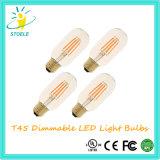 Bulbo de Edison de la luz del tubo de T45 8W E27 240V LED