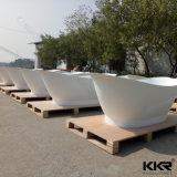 pour la baignoire d'intérieur autonome moderne en pierre artificielle d'adultes