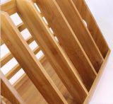 Dépliant de fichier en bambou, support en bambou de fichier, dépliant en bambou de document, crémaillères en bambou