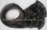 Virgen chino / indio / brasileño clip de pelo humano en la extensión del pelo