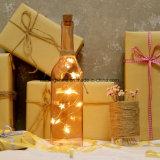 Luces de hadas del blanco LED del dormitorio de la fiesta de Navidad de la decoración de la cadena de la estrella de la luz de interior caliente de la botella