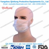 Masques protecteurs chirurgicaux plissés par 1ply non tissés remplaçables d'Earloop