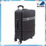 革キャンバスの荷物のトロリー箱PVCトロリー荷物のスーツケース