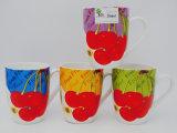 Leche de cerámica colorida brillante de 13 onzas, taza de café