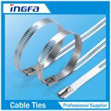 Strichleiter-überzogener rostfreier Plastikkabelbinder-multi Widerhaken-Verschluss-Typ