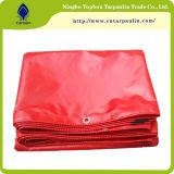 encerado impermeable de la tienda de la cubierta del PVC del encerado rojo de la Virgen 600GSM