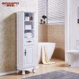 白いペンキの純木の防水浴室の虚栄心のキャビネット(GSP14-007)