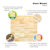 Teja de cristal metro cuadrado del oro de Brown mosaico de cristal de metro