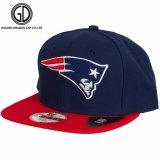 2016 3D刺繍が付いている熱い販売海軍カラーStrapbackの帽子