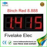 индикация знака изменителя газовой цены 8inch СИД (NL-TT20F-2R-4D-RED)