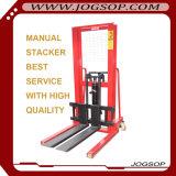 Apilador manual de la elevación de la mano de la carretilla elevadora de la mano Cty1.5