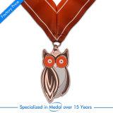 Medaglia d'ottone di sport del ricordo dell'oggetto d'antiquariato su ordinazione del premio di alta qualità