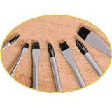 7PCS Hulpmiddelen Cr-V van de hand Staal maakten de Gemagnetiseerde Reeks van de Schroevedraaier van Uiteinden zwart