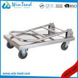 Camion pliable mobile de chariot à Flatform de poussée de main d'acier inoxydable pour le but multi