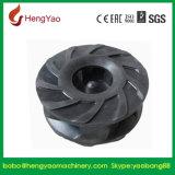 Выровнянная резиной центробежная турбинка насоса Slurry всасывания