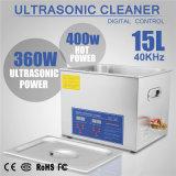 Commerciële Industrieel met de Digitale Ultrasone Reinigingsmachine van de Mand van de Tijdopnemer van de Verwarmer 15L