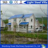 Casa prefabricada del chalet del presupuesto económico de la fábrica de China de la estructura de acero ligera