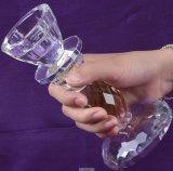 Cristal de vidrio titular de la vela para las vacaciones