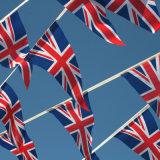 La cadena personalizada alta calidad de la tela del país señala la impresión por medio de una bandera
