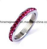Anillo de dedo del acero inoxidable de las piedras azules de la joyería de Shineme (CZR2577)