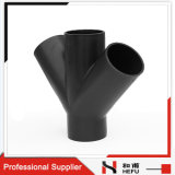 Großhandelszweig-spezielle Rohrfittings der abfluß HDPE des Plastik4 Methoden-Y