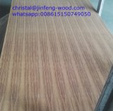 Forces de défense principale de placage de couleur de teck des meubles 1220*2440mm de pente d'aa