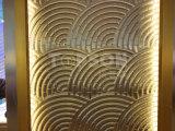 Muro divisorio piegante del divisorio dello schermo del metallo decorativo dell'acciaio inossidabile