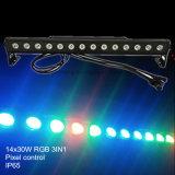 14X30W屋外の防水LED棒壁の洗濯機ピクセル制御ストリップ